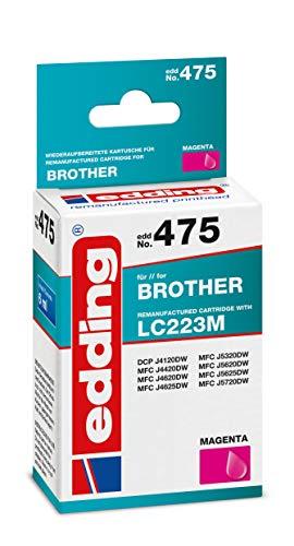 Edding Edd-475 - Cartucho de tinta para Brother LC223M, 6 ml, color magenta