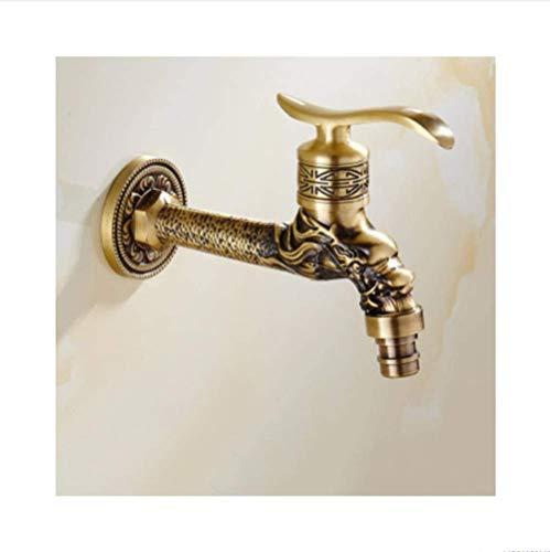 Waschmaschine WasserhahnTop Mode antiken Messing Bad Waschsalon Wand Waschmaschine Wasserhahn Wasserhahn Globus Ventil Outdoor Garten Wasserhahn