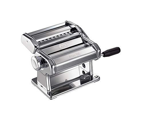 Marcato Atlas 150 Pasta Machine, Made in Italy, Includes Cutter, Hand Crank, and Instructions, 150...