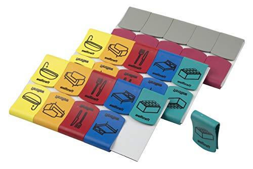 Wolfcraft 5545000 Umzugsclips, 30 Stück-Markierungshilfe und Deckelklemme