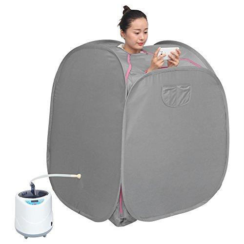Persönliche Dampfsauna, 2L tragbare Home Spa Dampfsauna Sauna für eine Person mit Dampftopf Leichter Saunadampfer zum Entspannen zu Hause(EU-Stecker 220V)