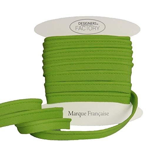 Paspelband baumwolle - sehr gute Qualität - Paspelband zum nähen - 10mm breit - In mehreren Farben erhältlich (Um 5 meter, Apfelgrün)