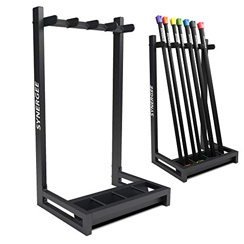 Synergee Weight Bar Rack – Weighted Workout Bar Holder & Storage – Holds Bars for Full Body Workout - Fitness Accessory