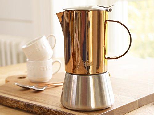 La Cafetière 5187804 Induction-Safe 4-Cup Copper-Effect Stovetop Espresso Maker, 200 ml (7 fl oz)