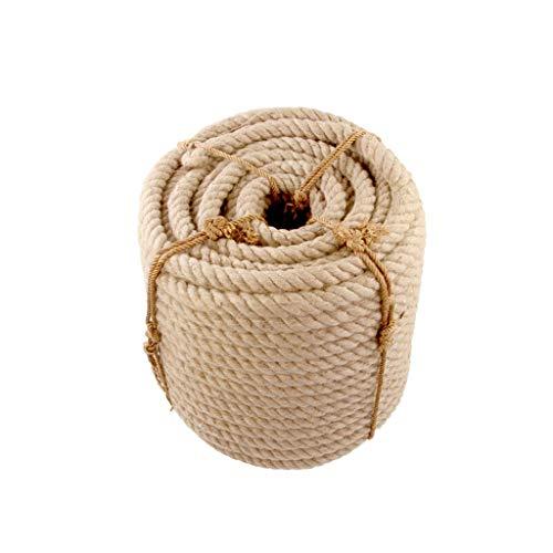 ZSIF Cuerda de cáñamo, Cuerda de Cubierta 35 mm y 40 mm 5-10 m Cuerdas de Yute Guita Cordón de cáñamo Natural País rústico Artesanía DIY Accesorios Hechos a Mano Decoración Gato Rasguño de Mascotas