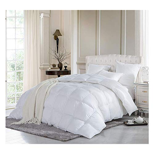 Lions Duck Feather Down Quilt - Luxury 13.5 Tog Deluxe Duvet | Hotel Quality | Super Soft | Warm and Cosy | Anti Allergy | Machine Washable | Double | 200 x 200 cm
