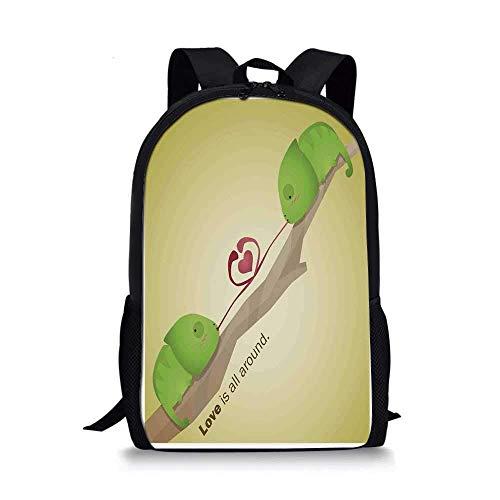 AOOEDM Backpack Mochila Escolar Elegante con decoración de Animales, arbolito con Reptiles en la Rama Make...