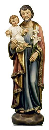 Statua San Giuseppe in Resina cm. 13 by Paben