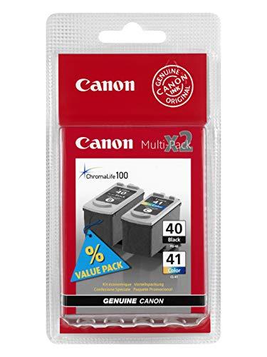 Canon Cartucho de tinta PG-40 / CL-41 Multipack C/M/Y – 16 ml/12 ml – Original para impresora de inyección de tinta