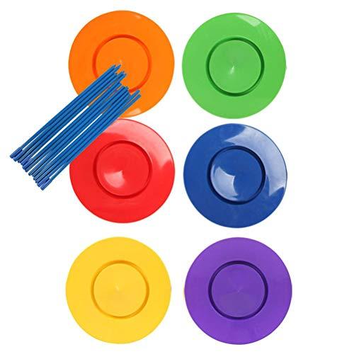 Urisgo Juego de 6 platos chinos con 12 colores variados