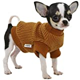 LOPHIPETS Dog Sweaters for Puppy Small Dogs Puppy Chihuahua Yorkie Clothes Cold Weather Coat-Yellow/XS
