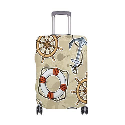 ALINLO - Brújula náutica Retro de Madera para Equipaje, Maleta, Protector de Viaje para 18 – 32 Pulgadas, Multicolor (Multicolor) - 321313zx3v338