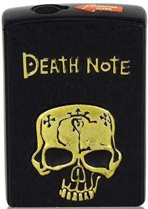 The Craft Store Refillable Side Slider Death Note Windproof Lighter - Skull Design Jet Flame Lighter Pocket Lighter??(Black)