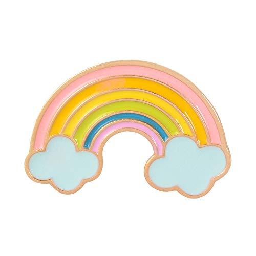 WEIXIAO WLKH Broche del Arco Iris Señora Esmalte Pernos Nube Insignia de la Historieta de Dril de algodón Chaquetas de Solapa sueño joyería Regalo for niños (Talla : Style1)