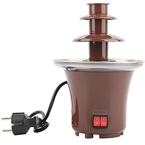 Schokoladenbrunnen FüR Party, Schokoladenbrunnen-Maschine 3 Reihen Schokoladen-Fondue-Brunnen Retro Elektrische Schokoladenbrunnen-Maschine 0.5lb Capacity Chocolate Pro Fountain Machine