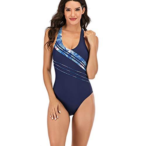 Bademode Einfarbig Push Up Sport Bikini Sexy One-Piece Drucken Bikini Badeanzug Beachwear Bikini Set für Damen Badeanzüge URIBAKY