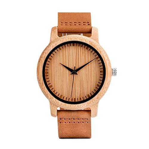 Bobo Bird Women Reloj De Pulsera Casual-Fashion Bamboo Wood Quartz Analogous A09