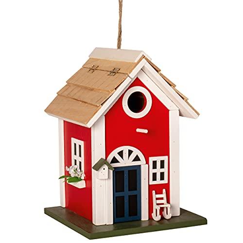 Gardigo Nistkasten Landhaus aus Holz | Dekoratives Vogelhaus zum aufhängen | Nisthilfe, Vogelhäuschen für Garten, Balkon, Terrasse