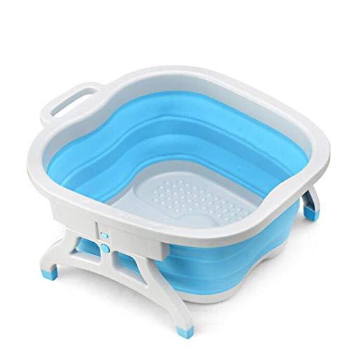 Alberta Faltbare Fußmassage-Becken Spa Faltbare Washtub Health Care Creative-Silikon-Füße aus Kunststoff Bad Set Bad Fuß Waschbecken-Rosa (Color : Blue)