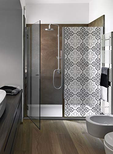 Plage 161009 - Adhesivo decorativo para pared de ducha (vinilo, 80 x 200 cm), color gris