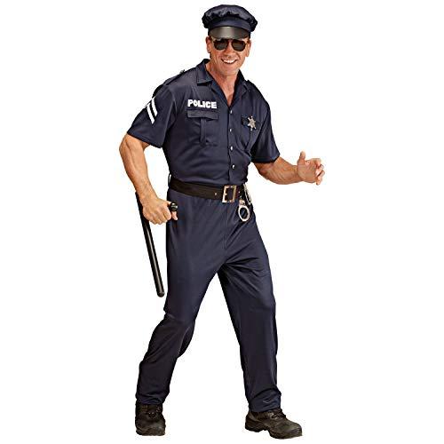 WIDMANN Widman - Disfraz de policía para hombre, talla UK 40-42 (W4425-M)