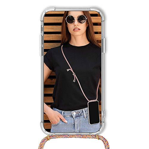 TUUT Handykette kompatibel mit Huawei Nova 5T/Honor 20 Handy-Kette Handy Hülle mit Kordel zum Umhängen Handyanhänger Halsband Lanyard Case/Handy Band Necklace [Stoßfest] - Rainbow - 6