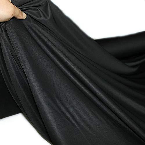 4,40 €//m 50cm STOFF Kostümstoff elastisch knitterarm schwarz