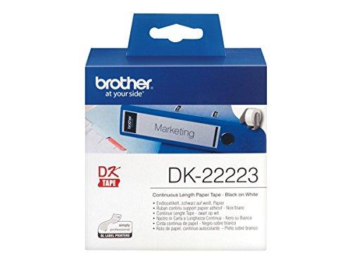 Brother Endlos-Etiketten Papier, weiß, 50mm breit, 30,48m lang