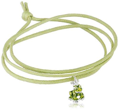 Heartbreaker Armband aus der Kollektion Herzenswünsche Harmonie aus Baumwolle | Unisex-Armband mit Frosch Anhänger | Edles Freundschafts-Armband versilbert