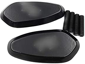 SMT-MOTO Motorcycle Mirror Block Off Base Plates for 2000-2008 Yamaha R1 YZF-R1 Yzfr1 Black