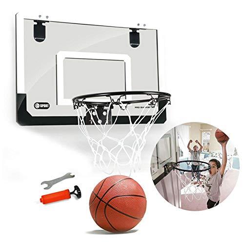 iBoosila Basketballkorb betreuen Zimmer Mini Basketball Kinder Sport Outdoor Indoor Basketballkorb Spielzeug mit Bälle Pumpe für Kinder Junge Mädchen ab 6 7 8 Jahre alt (MEHRWEG)