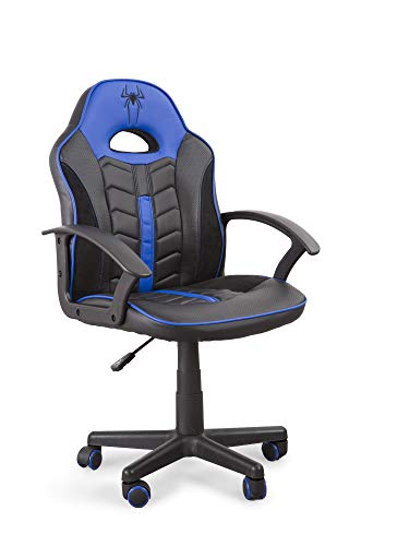 Home Heavenly®- Silla Gaming Win, Silla giratoria para ninos, ninas, sillon Gamer con Ruedas ergonomico diseno Moderno, para Estudio, habitacion Juvenil Escritorio, en tamano pequeno (Azul)
