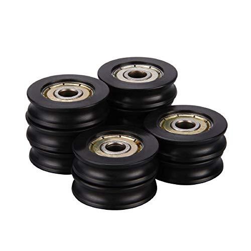 Nylon plastic Embedded 626ZZ Window Door Wheel U Groove Guide Pulley 6278mm ball bearing for 3D Printer,Pack of 10