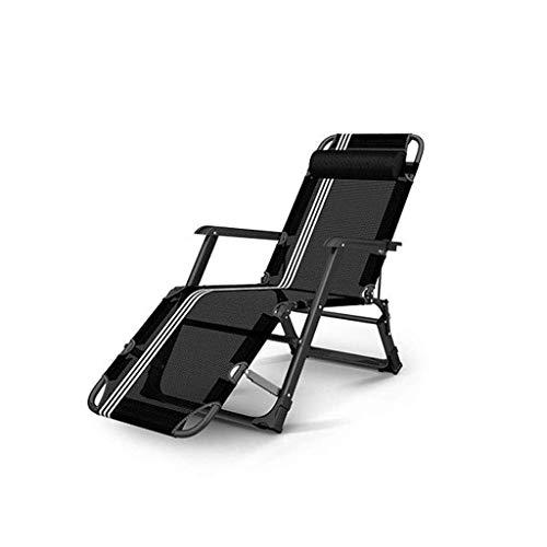 Zonnebank opvouwbare ligstoel ligstoel, tuinstoel verstelbaar strand ligstoel buiten patio zwarte ligstoel voor zware mensen