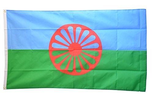 Fahne / Flagge Sinti und Roma + gratis Sticker, Flaggenfritze®