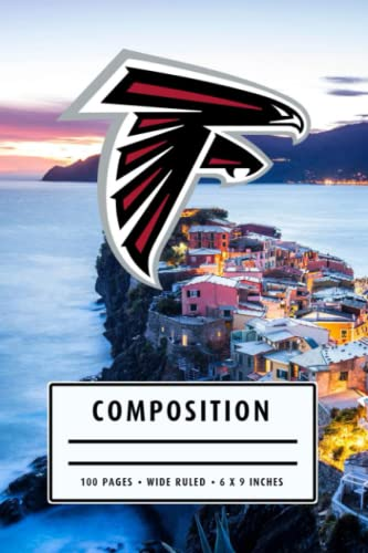Composition: Atlanta Falcons Notebook - To My Football Son , To My Football Dad - Thankgiving Gift Ideas Type #17