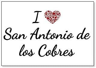 I Love San Antonio de los Cobres, fridge magnet (design 3)