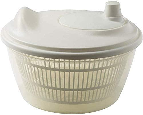 Ruilang Küchenhelfer Salattrockner Salatschleuder Gemüse- und Obsttrockner Haushalt Wasserablauf Korb Abtropffläche, Waschkorb Obstsieb