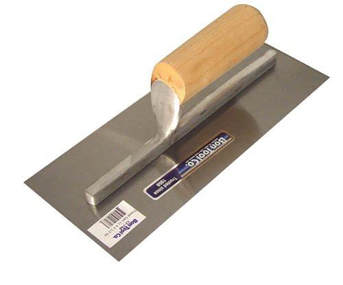 Bon 12-658 - Llana de acabados (acero de alto carbono, mango de madera recto, 50,8 x 10,2 cm)