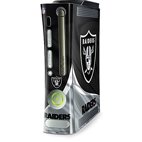 Skinit Decal Gaming Skin Compatible with Xbox 360 (Includes HDD) - Officially Licensed NFL Las Vegas Raiders Design