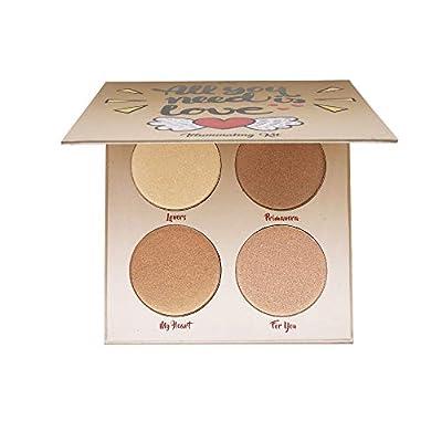 Highlighter Palette?Highlighter Makeup Palette, Glow Bronzer Highlighter Powder Kit,Face illuminator makeup palette