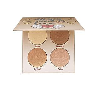 Beauty Shopping Highlighter Palette,Highlighter Makeup Palette, Glow Bronzer Highlighter Powder