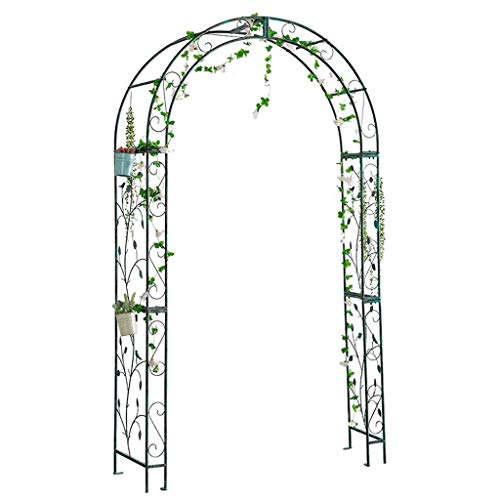 Garden Arch Outdoor Large Metal Decorative Arch Wedding Rose Archway Ornament Arbour Pergola for Climbing Plants Trellis Support, Patio