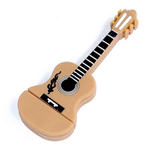 Gitaar Muziek Instrument Snaren 8 GB USB-stick - 2.0 - Guitar Music Instrument Strings USB Flash Drive - Origineel Cadeau voor Man en Vrouw - Dataopslag - Bruin Zwart Wit