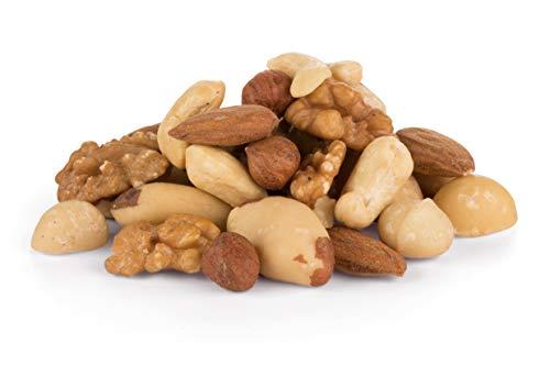 Mezcla de 7 tipos de nueces orgánicas - nueces de Brasil, avellanas, almendra, nueces, nueces de macadamia, nueces pecanas y anacardos, BIO, crudas sin tostar 700g 0.70kg