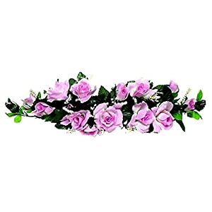 LINESS for Silk Roses Swag 2ft Artificial Flowers Wedding Arch Table Centerpiece Backdrop DIY LINESS for Wedding Flowers, Petals & Garlands Floral Décor – Color is Lavender