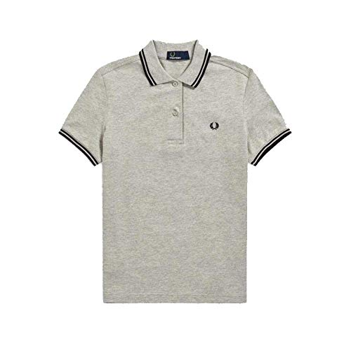 Fred Perry Women´s Shirt Twin Tipped Grey & Black-12