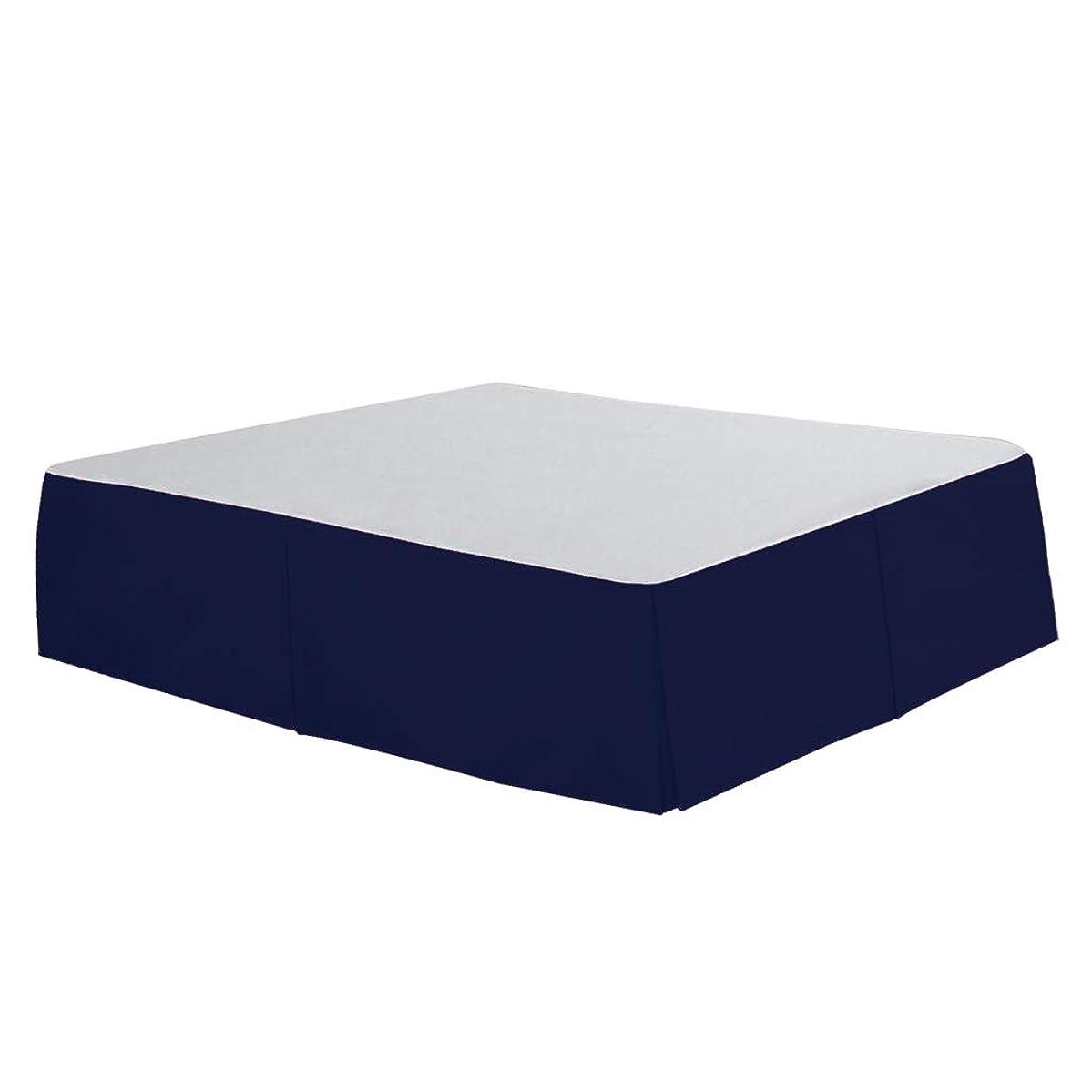 章汚染アーサーコナンドイルB Blesiya ベッドスカート ヴィンテージ風 通気性 快適 耐久性 洗濯可能 4サイズ - ブルー, サイズ4