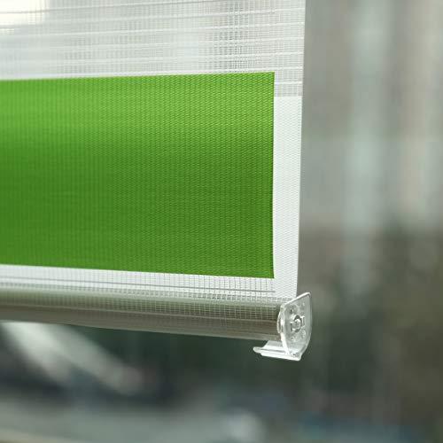 Grandekor Doppelrollo - Grün-Grau-Weiß - 110x150cm