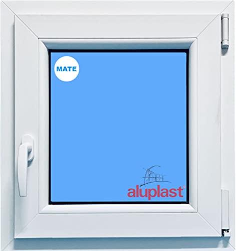 ECO-BLU PDL216 (V01M) Finestra PVC Bagno 500 x 600 Oscilobatiente destro Climalit opaco, bianco, 500 x 600 mm